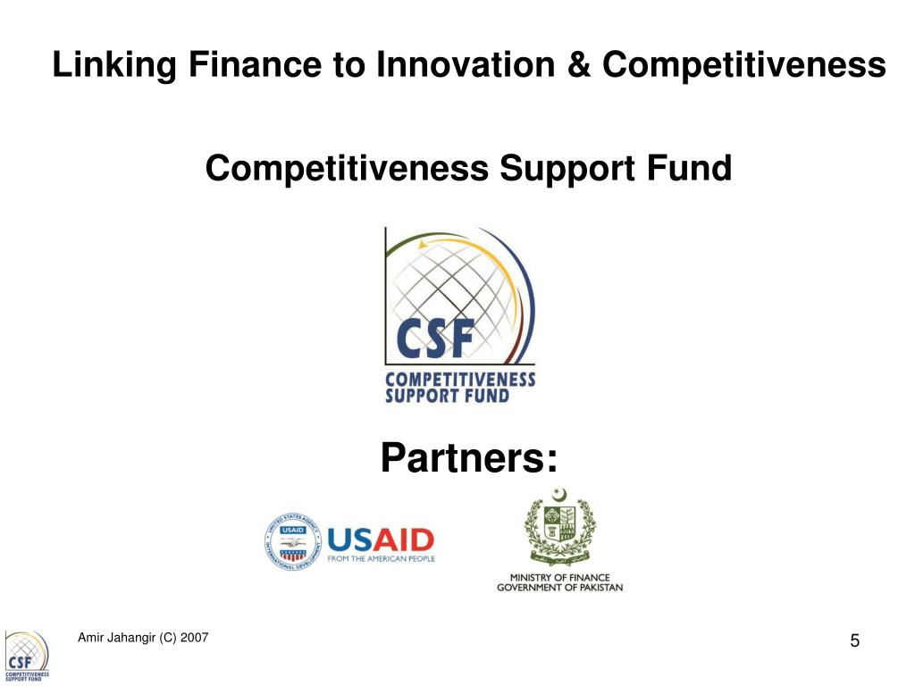 Linking Finance to Innovation & Competitiveness