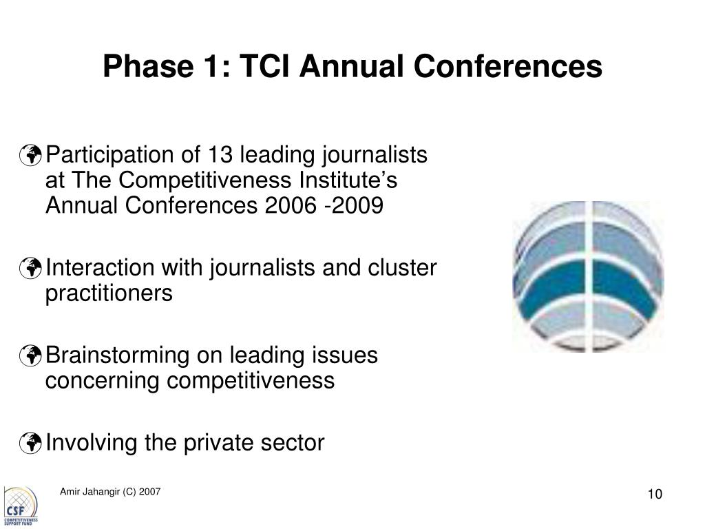 Phase 1: TCI Annual Conferences