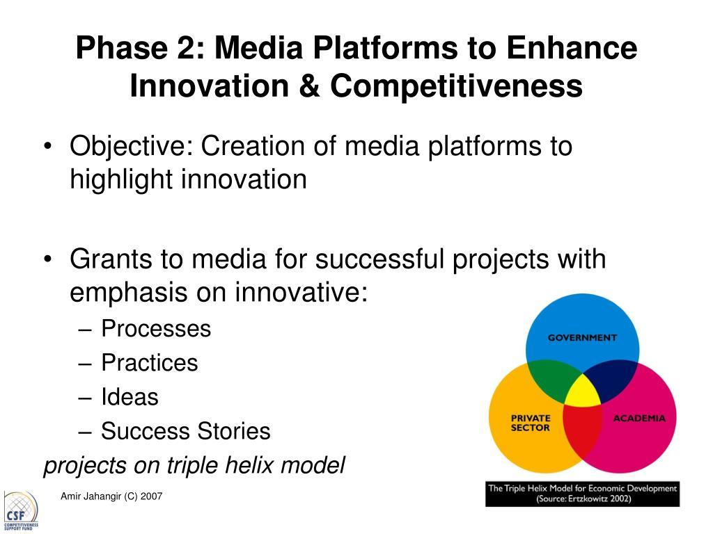 Phase 2: Media Platforms to Enhance Innovation & Competitiveness