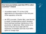 how have journalists used their rti in other countries ireland