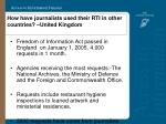 how have journalists used their rti in other countries united kingdom