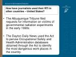 how have journalists used their rti in other countries united states15