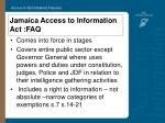 jamaica access to information act faq