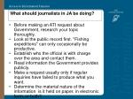 what should journalists in ja be doing