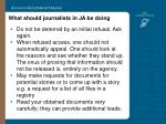 what should journalists in ja be doing24