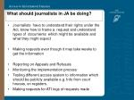 what should journalists in ja be doing25