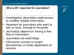 why is ati important for journalists