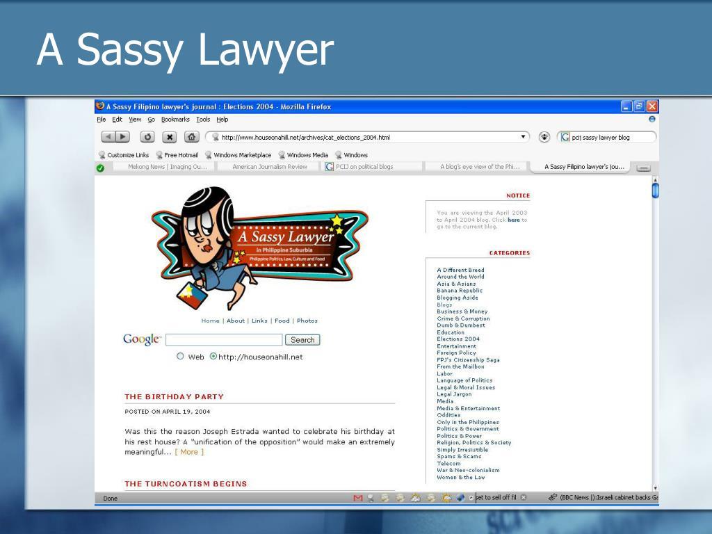 A Sassy Lawyer