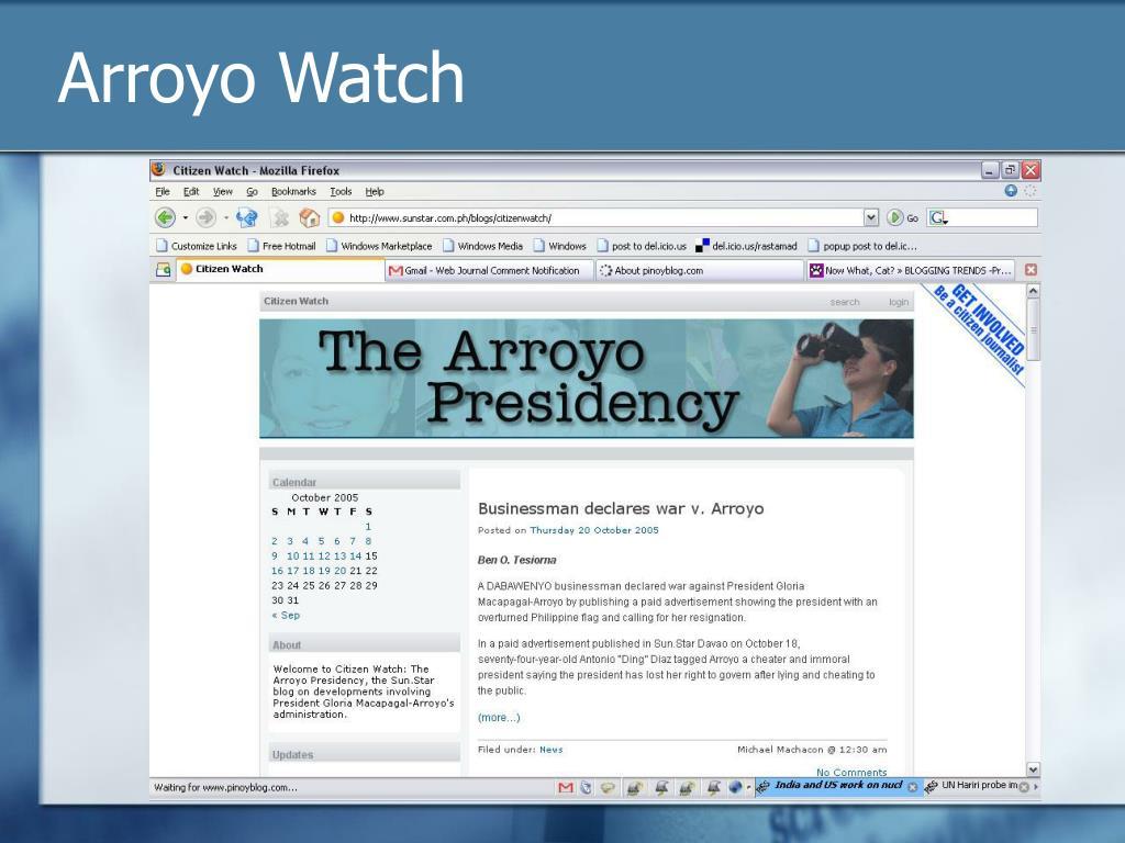 Arroyo Watch