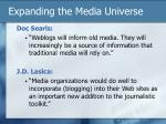 expanding the media universe