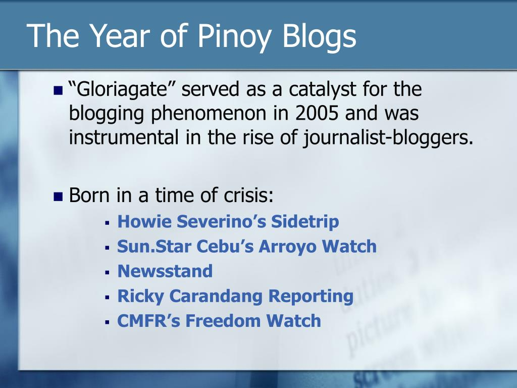 The Year of Pinoy Blogs