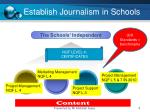 establish journalism in schools