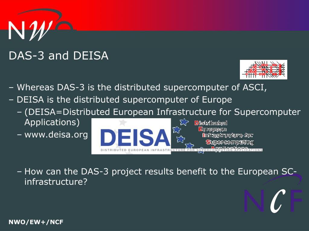 DAS-3 and DEISA