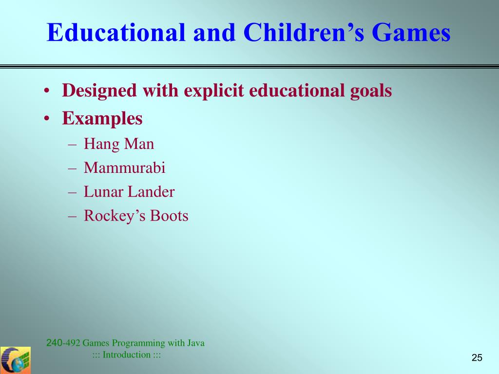 Educational and Children's Games