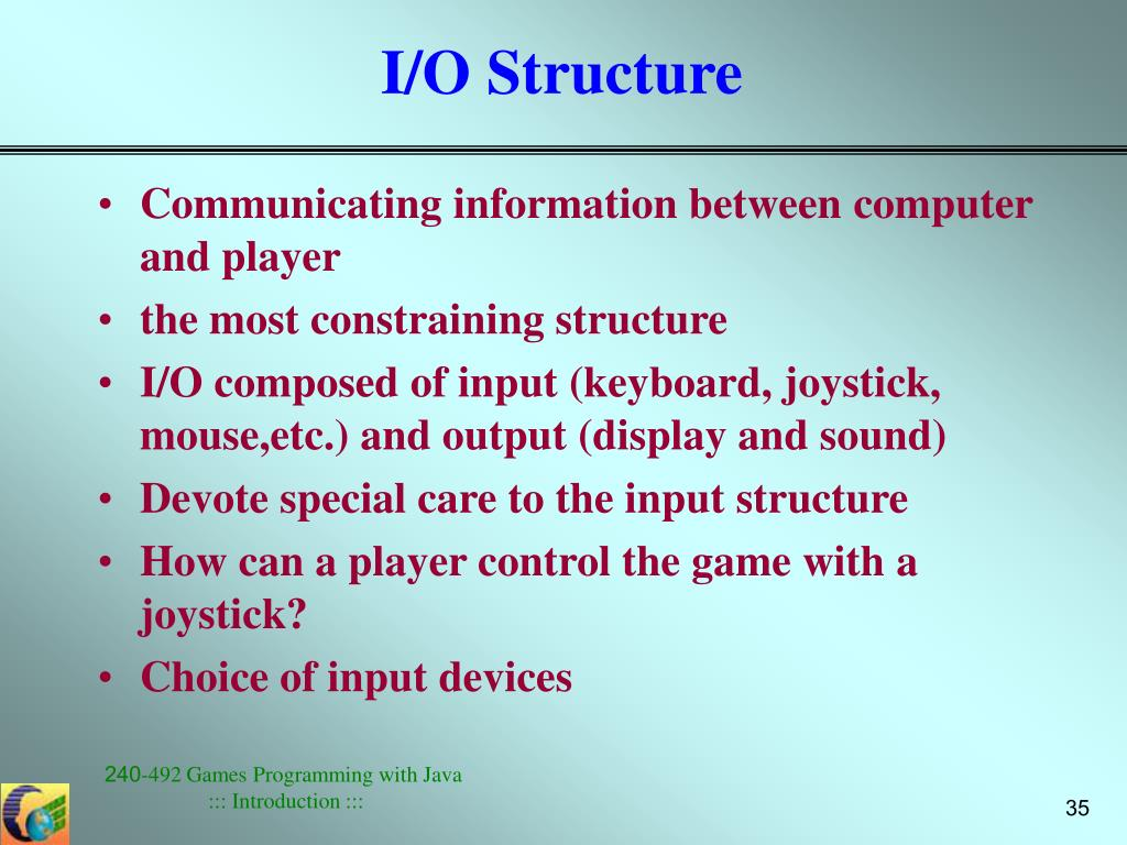 I/O Structure