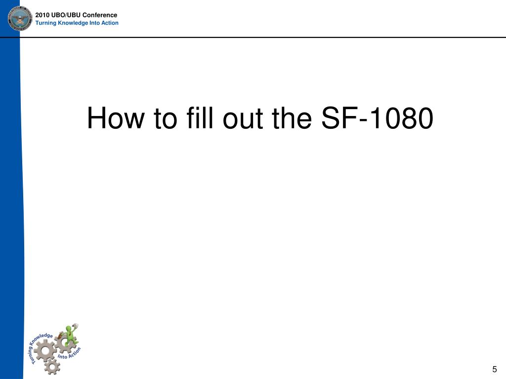 How to fill out the SF-1080