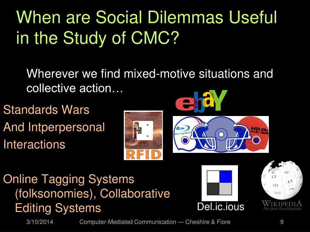 When are Social Dilemmas Useful in the Study of CMC?