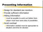 presenting information