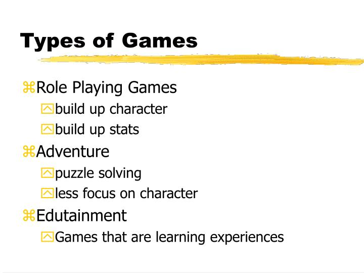 Types of games