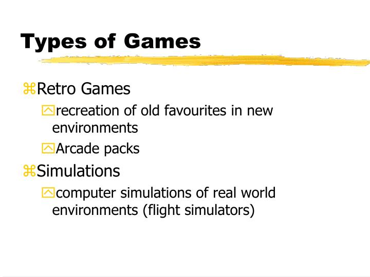 Types of games3