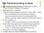 the world according to nash