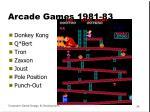 arcade games 1981 83