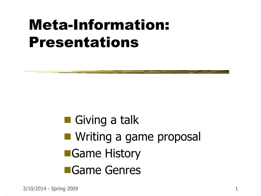 meta information presentations l.