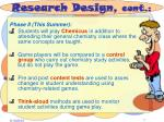 research design cont