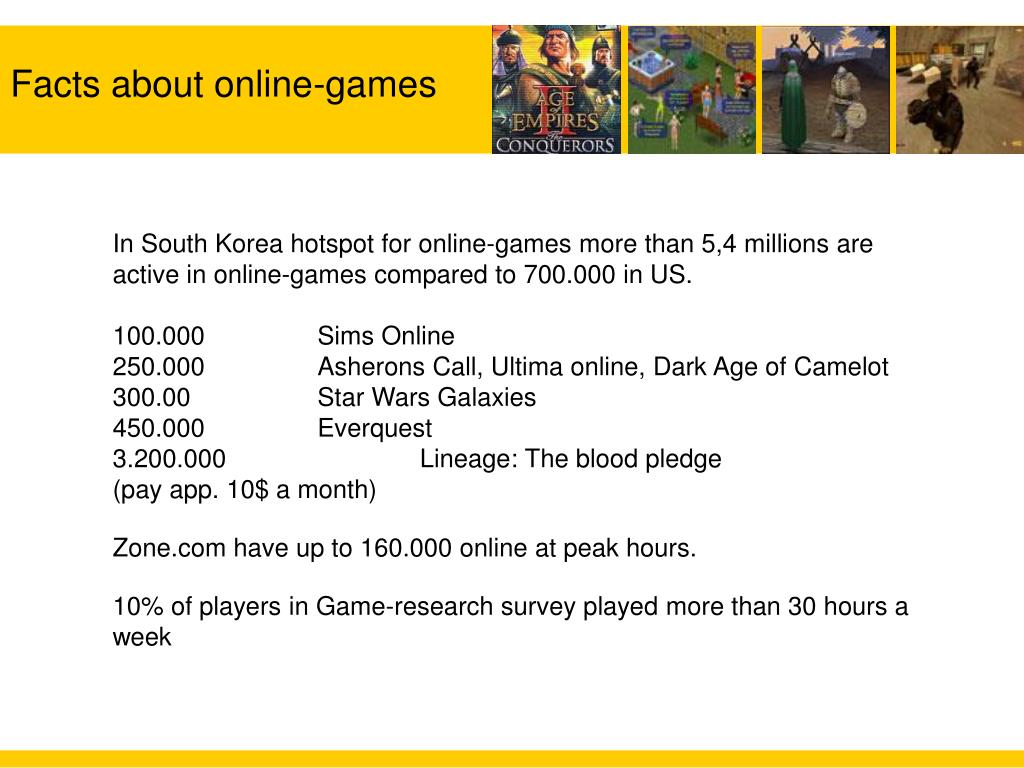 Facts about online-games