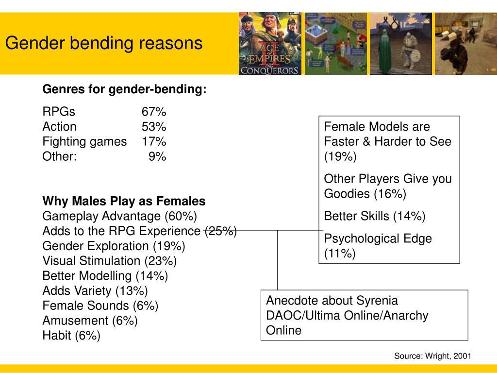 Gender bending reasons