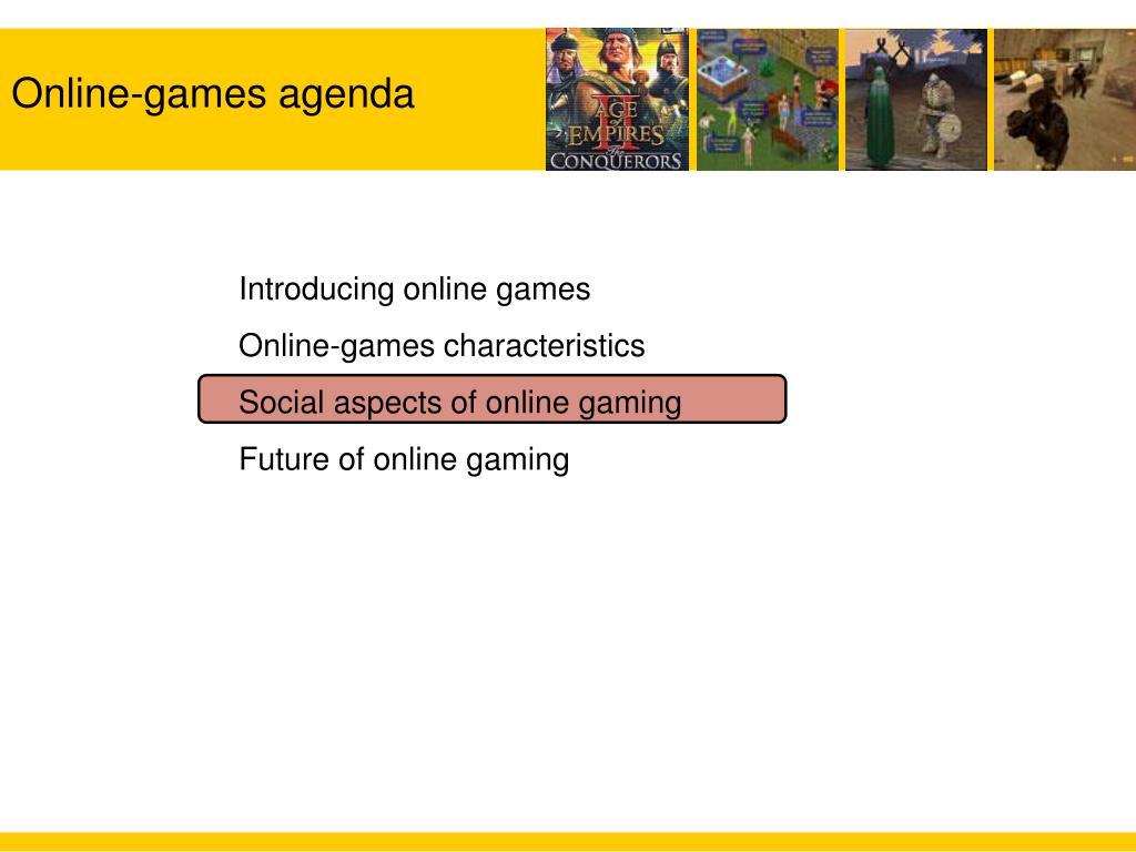 Online-games agenda