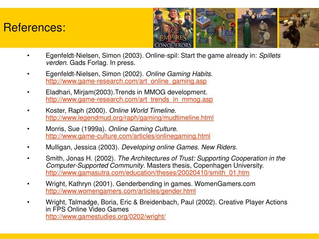Egenfeldt-Nielsen, Simon (2003). Online-spil: Start the game already in: