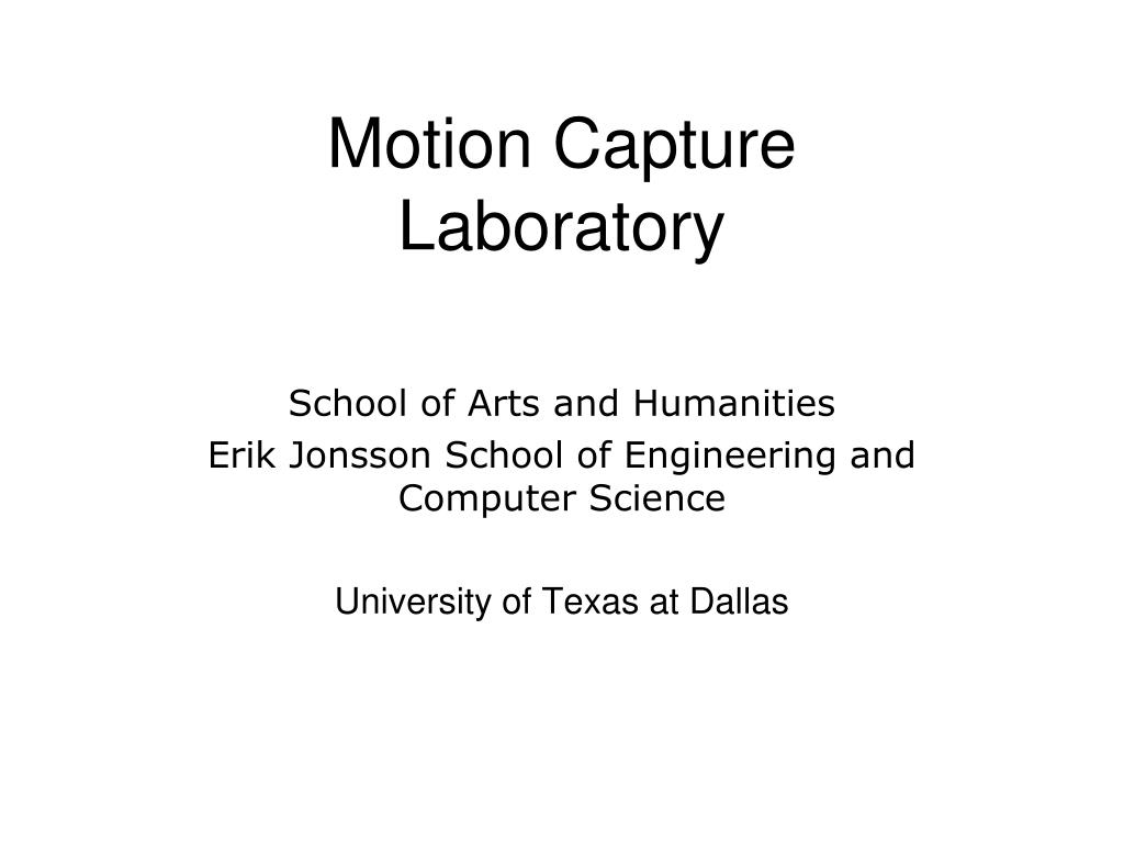 motion capture laboratory l.