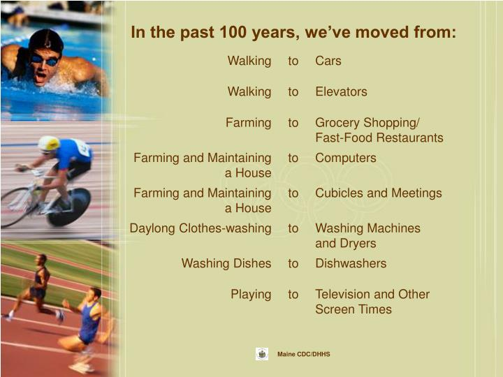 In the past 100 years, we've moved from: