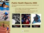 public health reports 2000