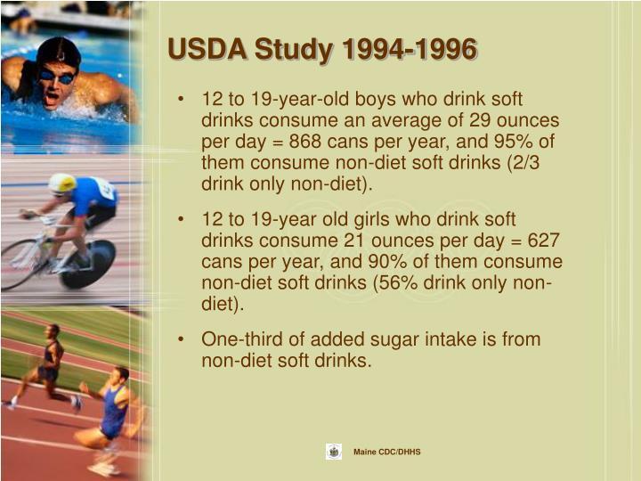 USDA Study 1994-1996