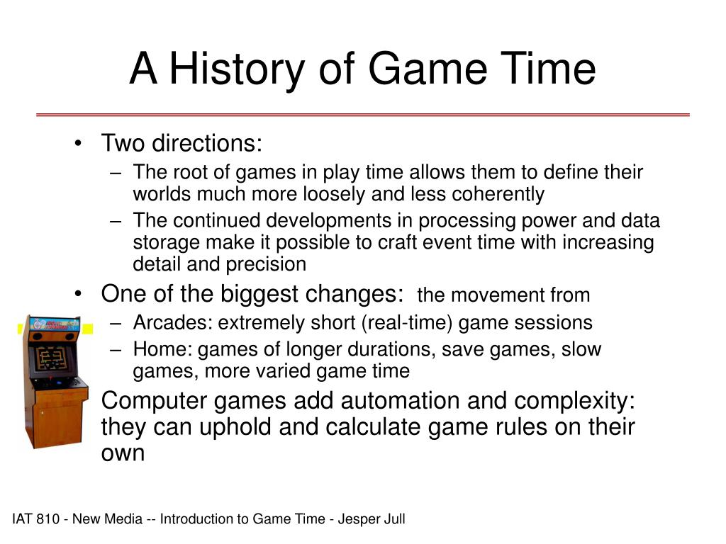 A History of Game Time
