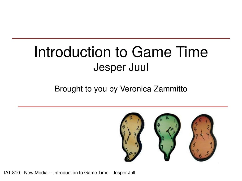 introduction to game time jesper juul l.