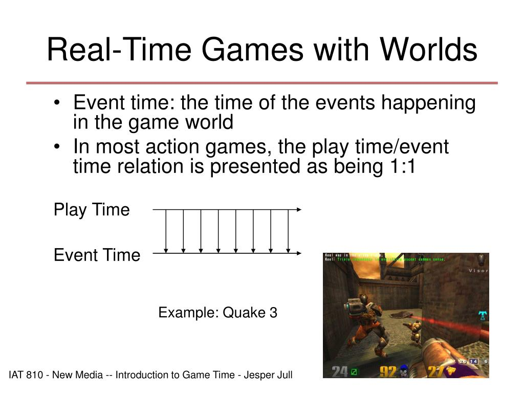 Real-Time Games with Worlds