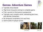 genres adventure games