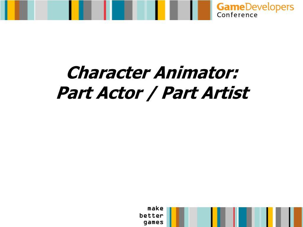 Character Animator: