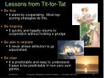 lessons from tit for tat