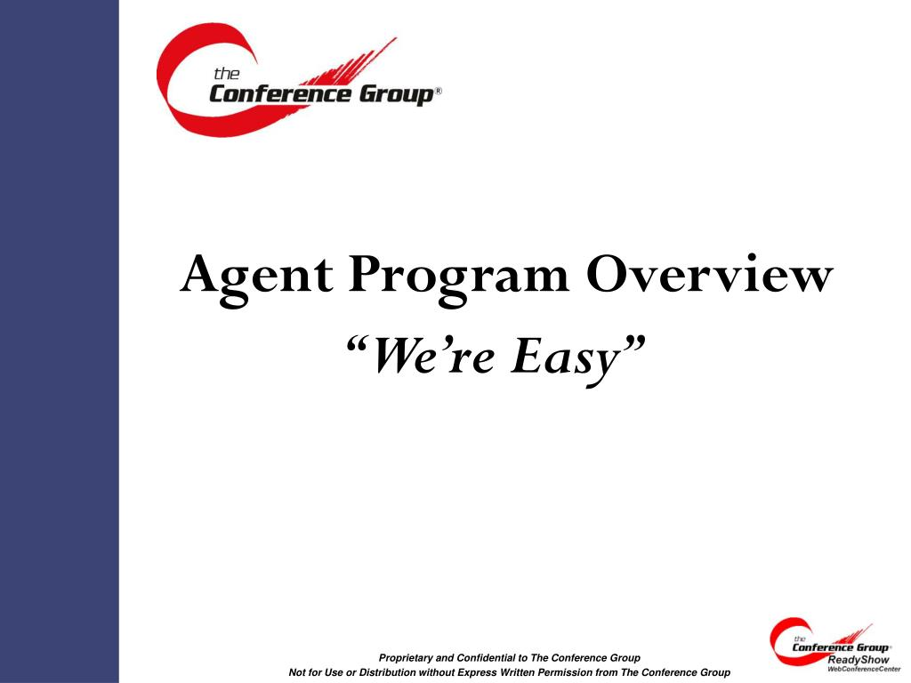 agent program overview l.