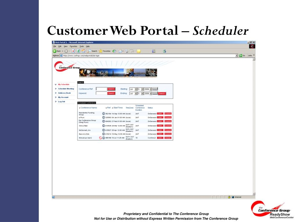Customer Web Portal –