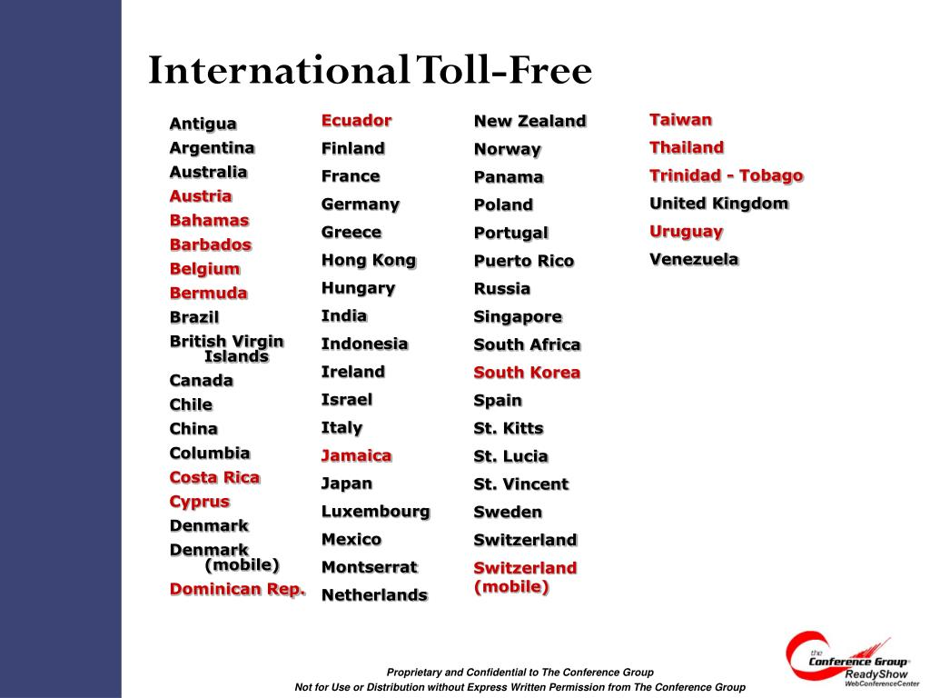 International Toll-Free