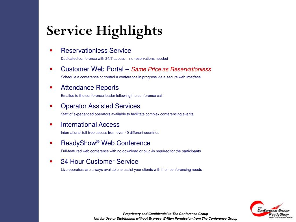 Service Highlights