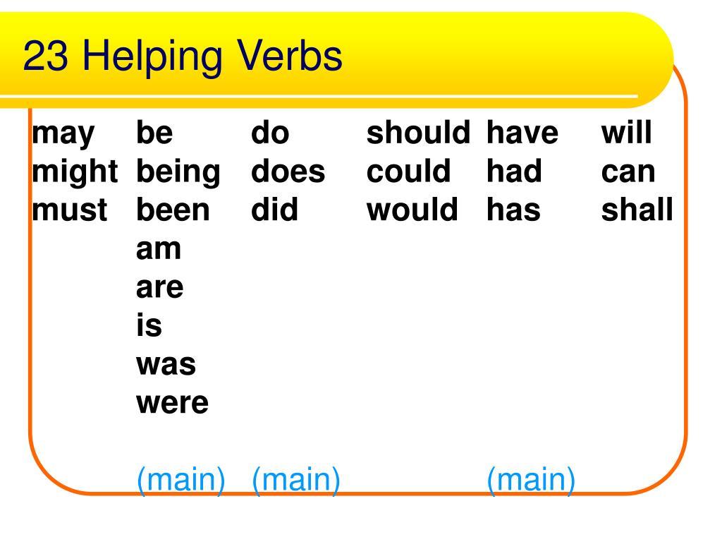 23 Helping Verbs