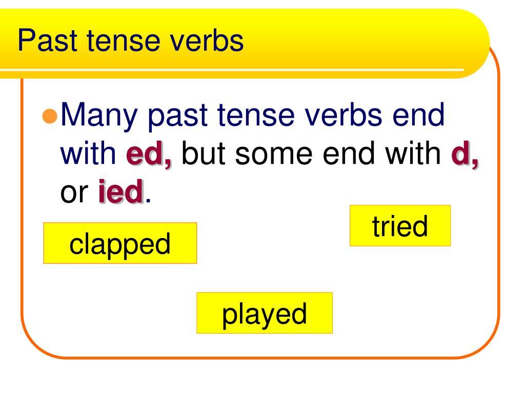 Past tense verbs
