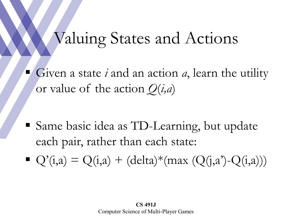 Valuing States and Actions