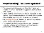 representing text and symbols